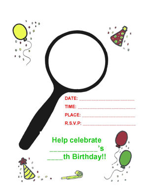 Scavenger Hunt Operation Birthday Bash For Any Size