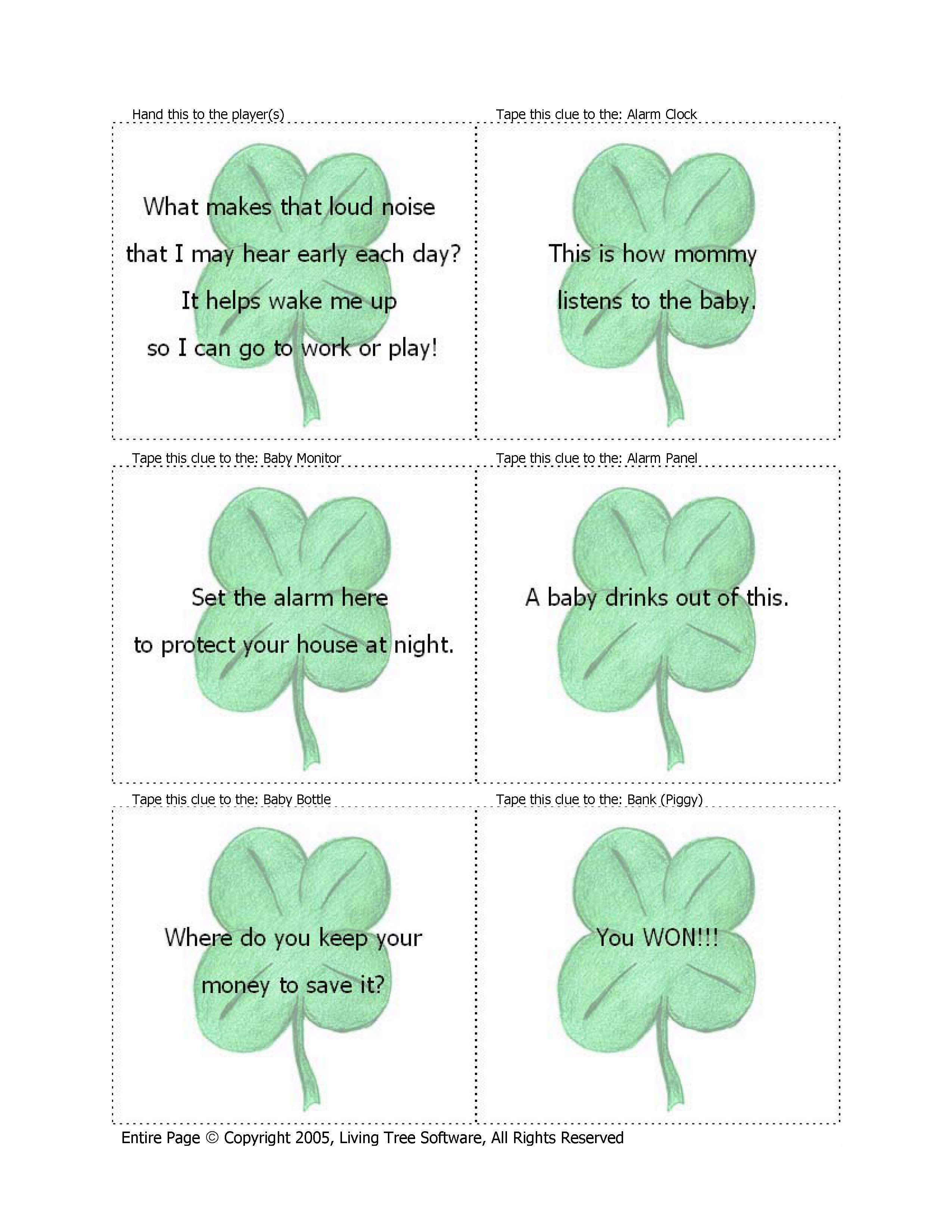St Patrick S Day Treasure Hunt And Scavenger Hunt Software